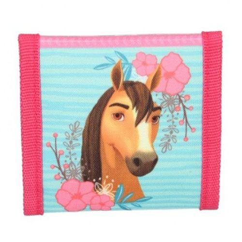 Portemonnee paarden - Spirit Free Riding - blauw met roze