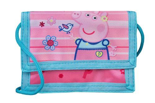 Portemonnee Peppa Big met nekkoord roze met blauw