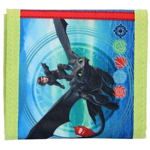 Portemonnee Hoe tem je een draak - Hikkie en Tandloos blauw met groen