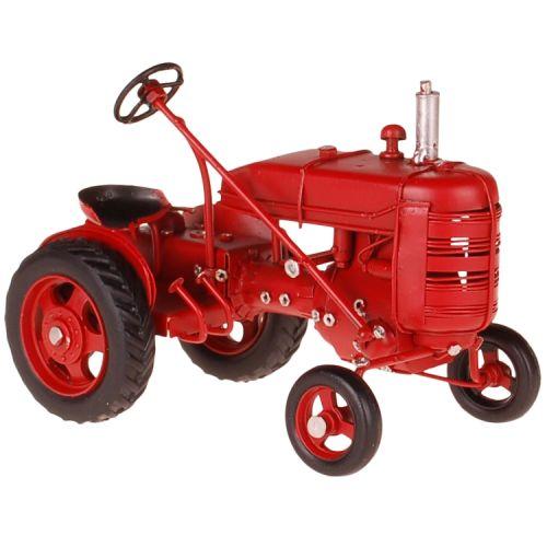 Metalen rode traktor