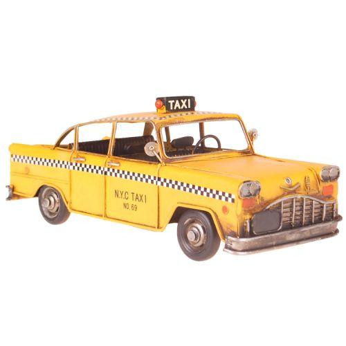 Metalen gele New York taxi