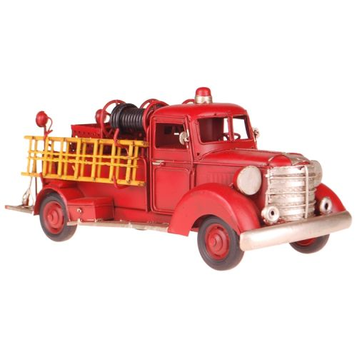 Metalen brandweerauto