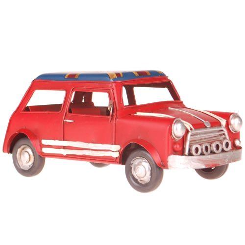 Metalen auto Mini rood engelse vlag
