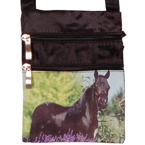 Schoudertasje paard zwart