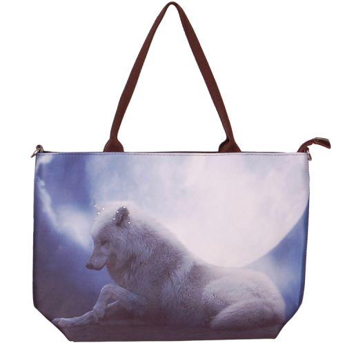 Handtas groot wolf