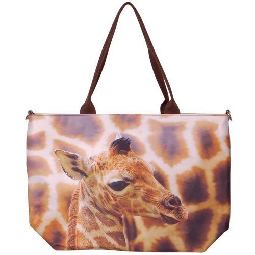 Handtas groot giraffe