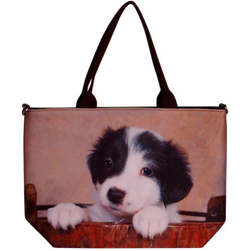 Handtas groot Border Collie pup