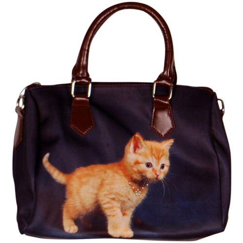 Handtas oranje kitten