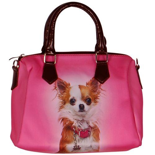 Handtas roze met Chihuahua