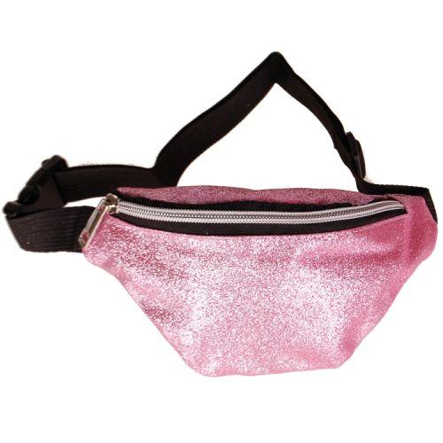 Heuptas voor kinderen glitters roze