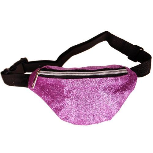 Heuptas voor kinderen glitters paars