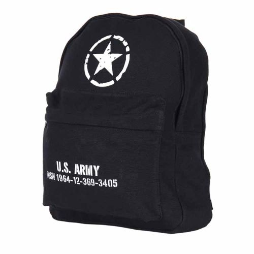 Rugzak U.S. Army Allied stars zwart