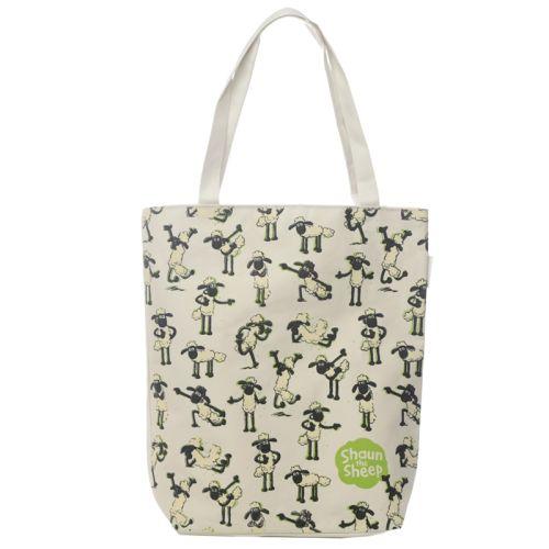 Katoenen tas met rits en voering - Shaun schaap