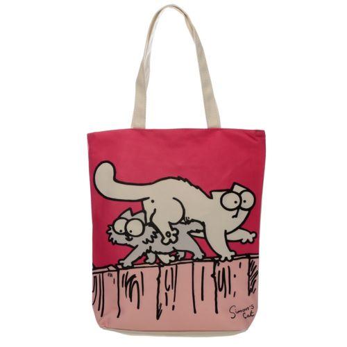 Katoenen tas met rits en voering - Simon's cat