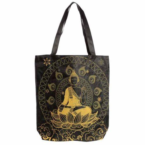 Katoenen tas met rits en voering - Boeddha