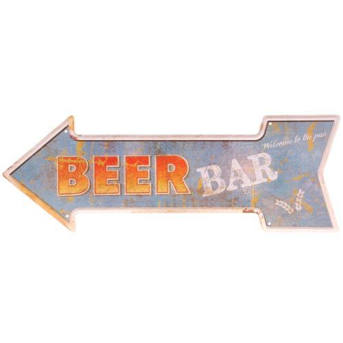 Metalen pijl - beer bar