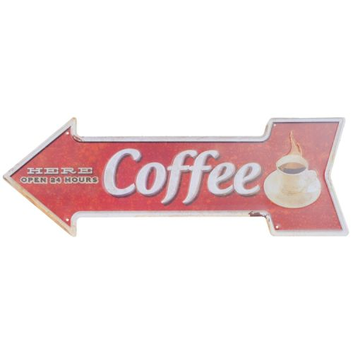 Metalen pijl - coffee