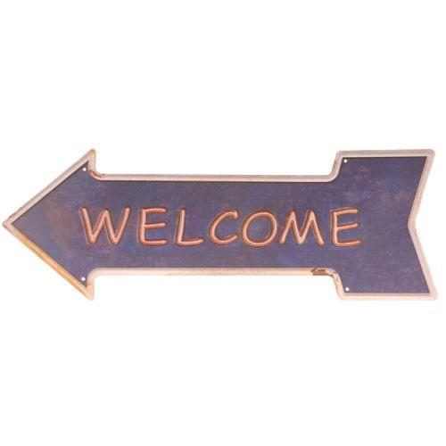 Metalen pijl - welcome
