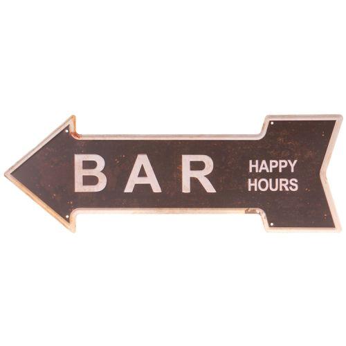 Metalen pijl - bar/happy hours