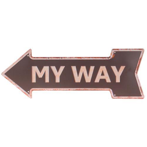 Metalen pijl - my way