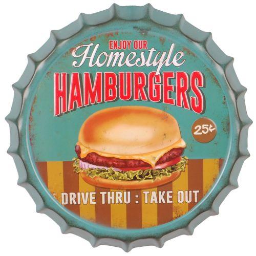 Bierdop/kroonkurk hamburgers