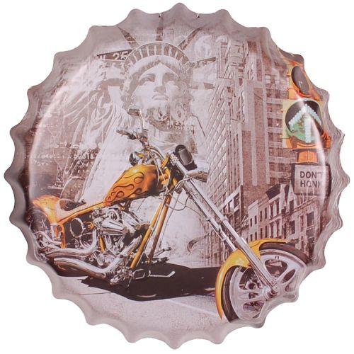 Bierdop/kroonkurk motor geel