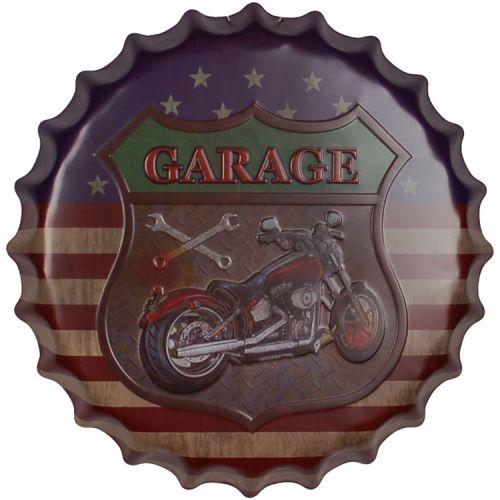 Bierdop/Kroonkurk Amerikaanse Vlag Motor Garage