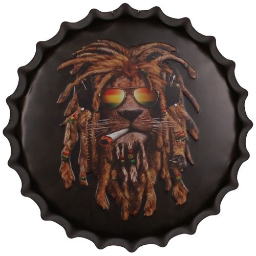 Bierdop/Kroonkurk Jamaican Rasta Leeuw