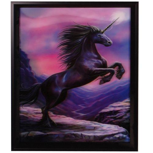 3-d schilderij Stijgerende eenhoorn
