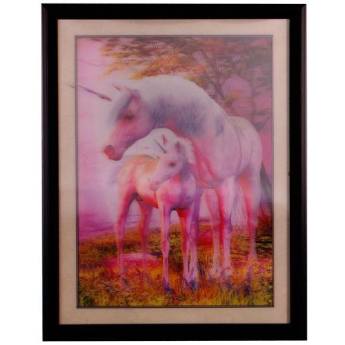 3-d schilderij Eenhoorn met veulen