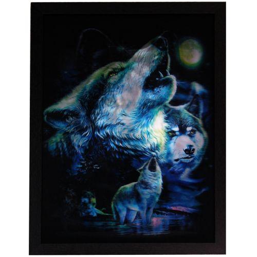 3d schilderij Wolf 3 afbeeldingen