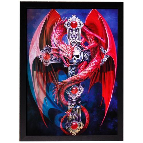 3d schilderij Draak 3 afbeeldingen