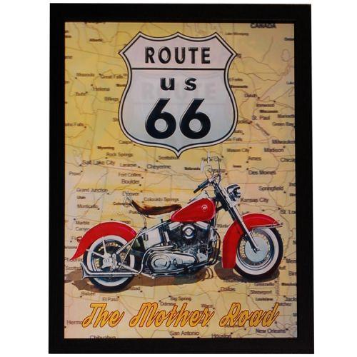 3d schilderij Motor Route 66