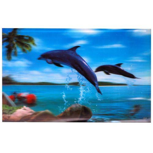 3-d poster dolfijnen