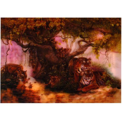 3-d poster tijgers