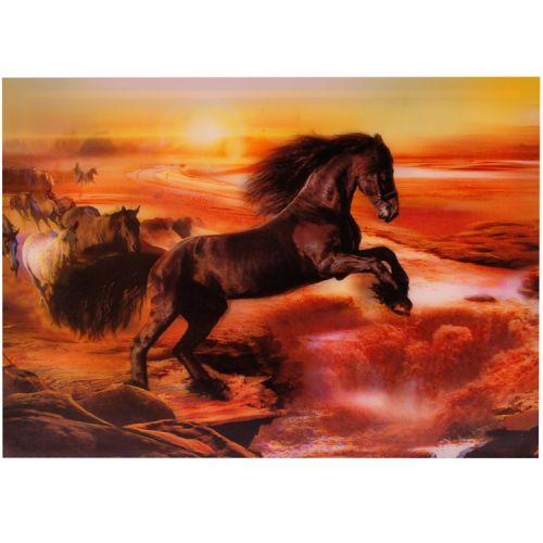 3-d poster paard