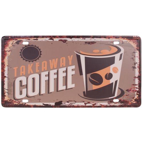 Amerikaans nummerbord - takeaway coffee