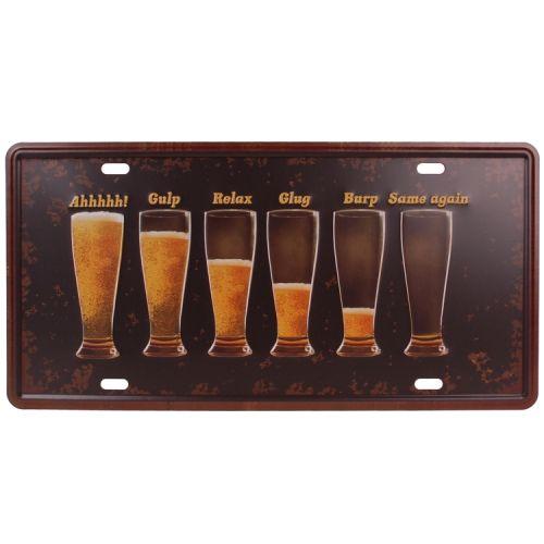 Amerikaans nummerbord - bierglazen