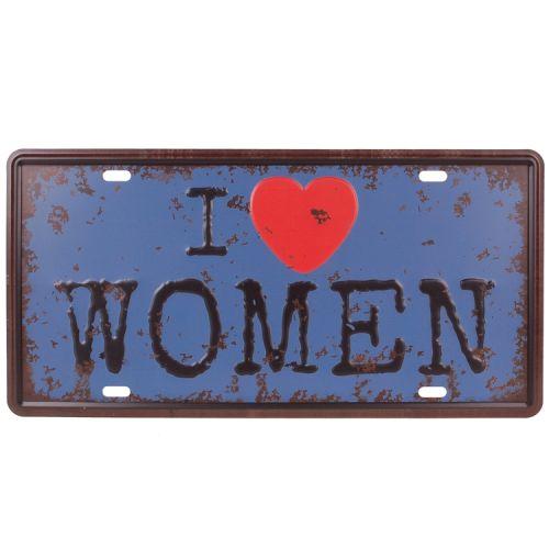 Amerikaans nummerbord - I love women