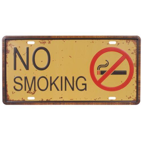 Amerikaans nummerbord - no smoking