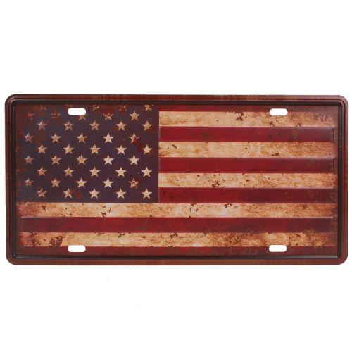 Amerikaans nummerbord - amerikaanse vlag
