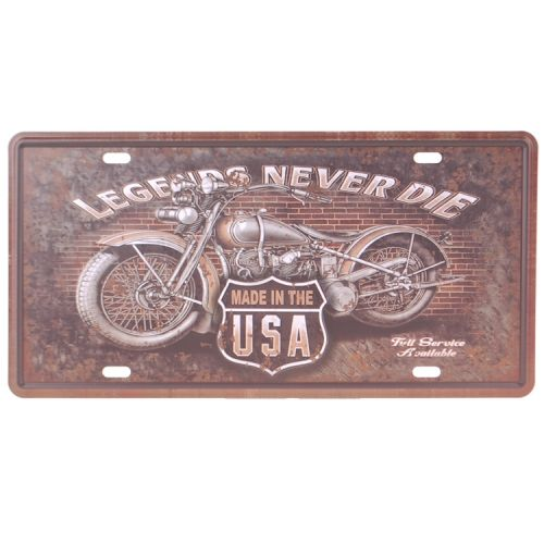 Amerikaans nummerbord - legends never die