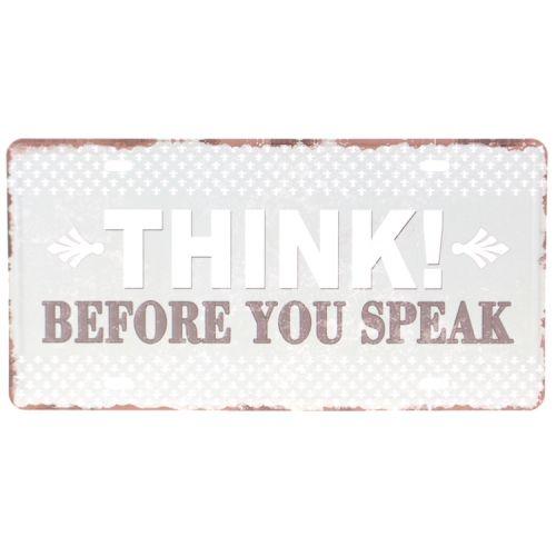 Amerikaans nummerbord - Think before you speak