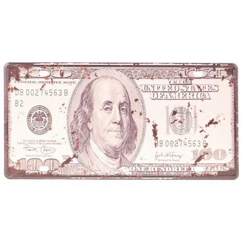 Amerikaans nummerbord - onehundred dollars