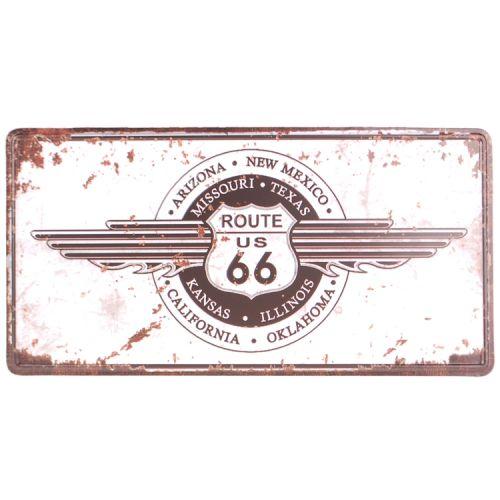 Amerikaans nummerbord - Route 66 wit