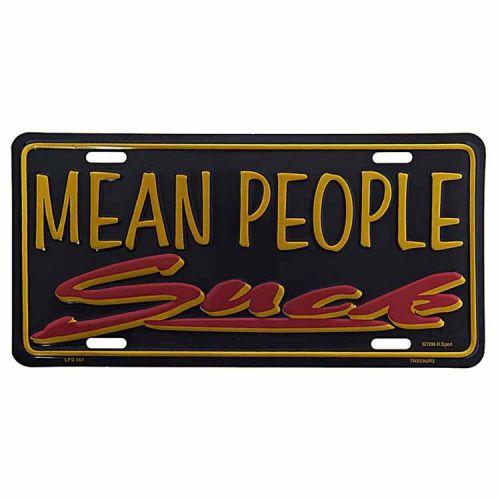 Amerikaans nummerbord - Mean People