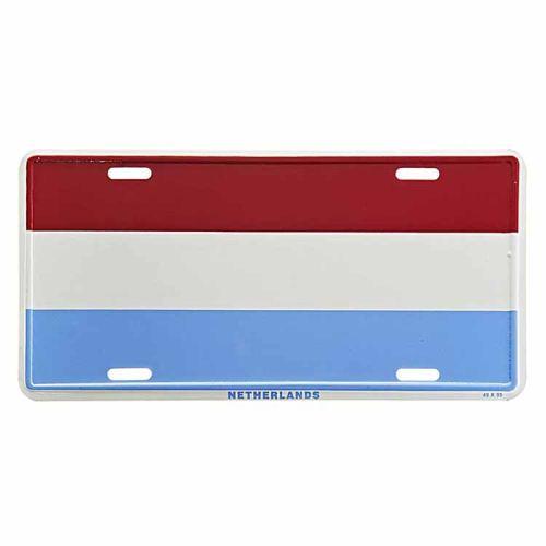 Amerikaans nummerbord - Nederlandse vlag