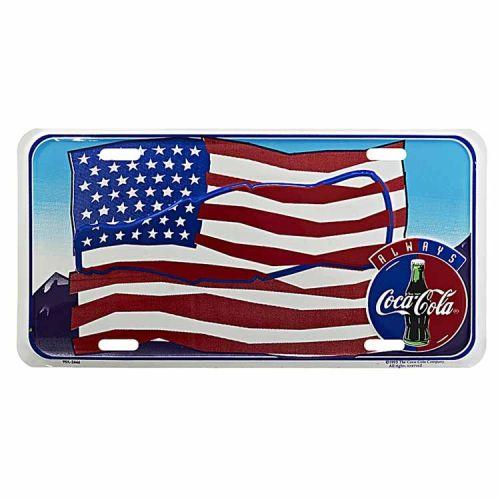 Amerikaans nummerbord - Coca Cola Amerikaanse vlag