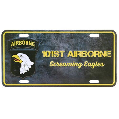 Amerikaans nummerbord - 101st. Airborne eagles