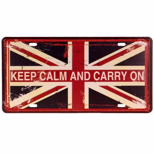 Amerikaans nummerbord - Keep calm and carry on